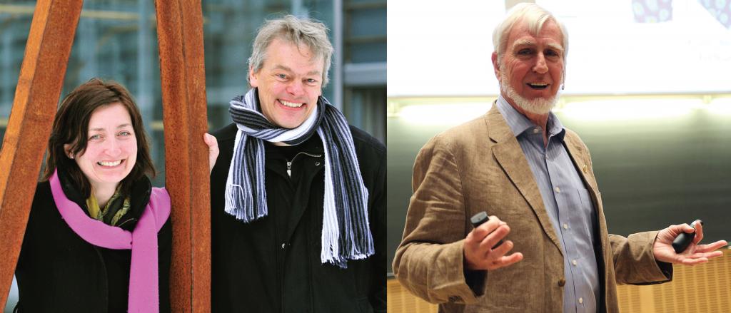 Nobelprijswinnaars May-Britt Moser, Edvard Moser en John O'keefe